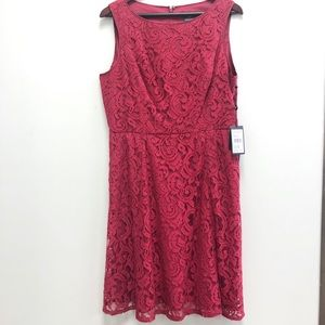 NWT Adrianna Papell Fit & Flare Lace Dress Sz 12